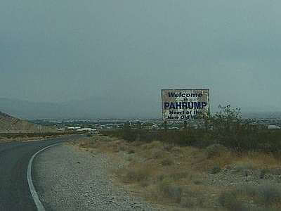 Droga do Pahrump w stanie   Nevada w USA